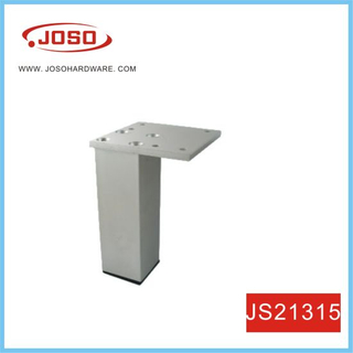 Square Misty Silver Finish Aluminum Sofa Leg for Living Room