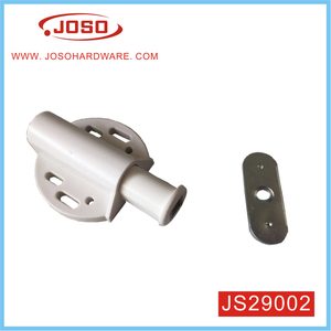 White Push Press Open Single Steel Magnetic Catch