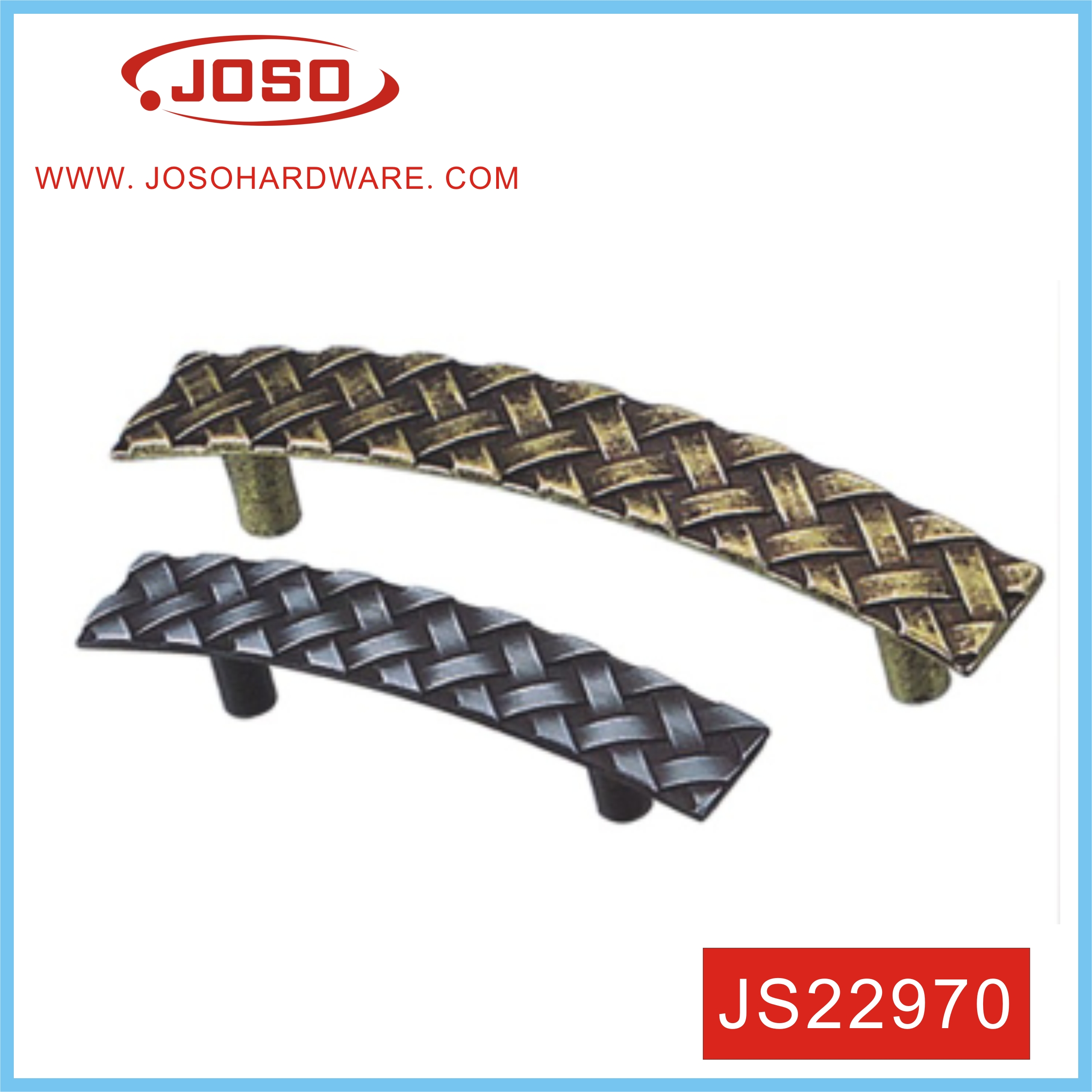 Reticulated Classical Zinc Alloy Handle For Cabinet
