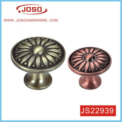 Small Round Zinc Alloy Classical Pull Handle for Cabinet