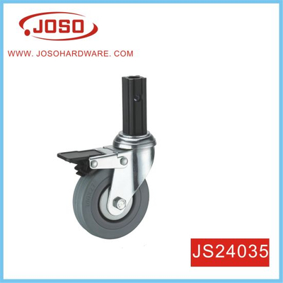 Rubber Swivel with Brake Castor Wheels for Trolley Furniture