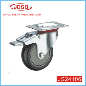 Nylon Swivel Shopping Cart Caster Wheel With Brake