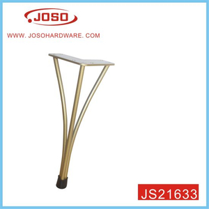Gold Three Rods Metal Office Table Leg
