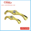 Wholesale Modern Gold Diamond Furniture Handle for Dresser Drawer